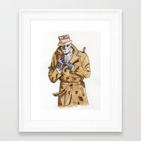 rorschach Framed Art Prints featuring Rorschach by Of Newts and Nerds