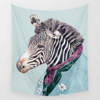 zebra Wall Tapestries featuring Zebra by Animal Crew