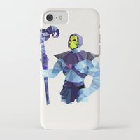 skeletor iPhone & iPod Cases featuring Polygon Heroes - Skeletor by PolygonHeroes