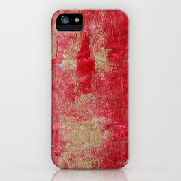 Festive Season 2     #holidays #Christmas #painting #gold #abstract iPhone Case