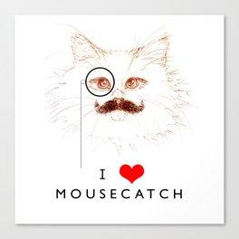 I Love Mousecatch Canvas Print