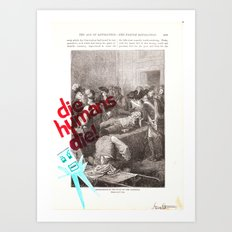 Robot history #1 Art Print