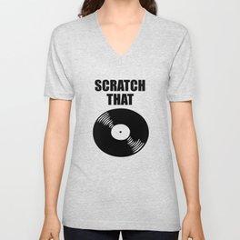 scratch that music logo Unisex V-Neck