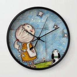 Wishing on Stars - by Diane Duda Wall Clock