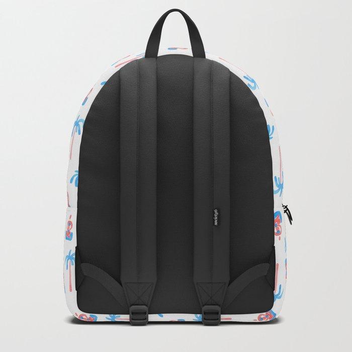 yoga watercolor pattern Backpack