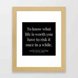 50  | Jean-Paul Sartre Quotes | 190810 Framed Art Print