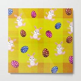 Easter Bunny Pattern Metal Print