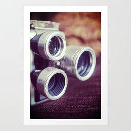 Vintage movie camera Art Print