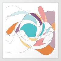 abstract wind Art Print