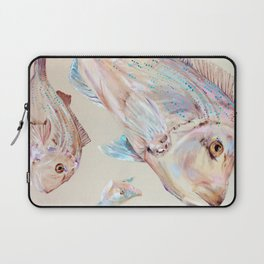 Pink Snapper Fish Laptop Sleeve
