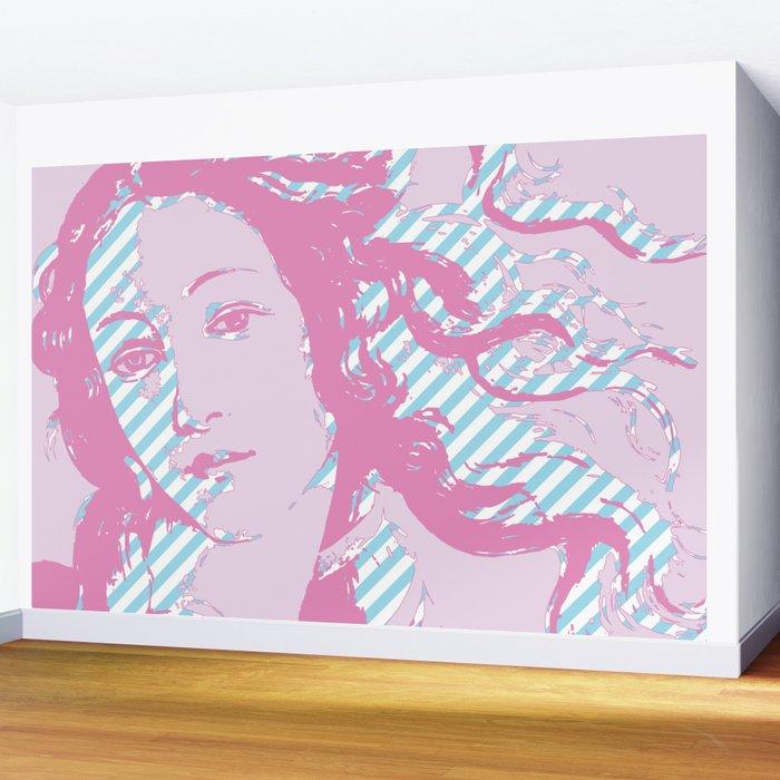 Rebirth of Venus - Pink & Cyan - Trans Pride! Wall Mural