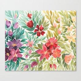The Rainbow Floral Garden Canvas Print