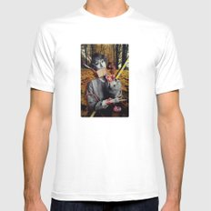 The Fall | Collage White MEDIUM Mens Fitted Tee