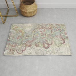 Beautiful Map of the Lower Mississippi River Rug