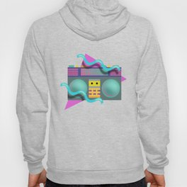 Retro Eighties Boom Box Graphic Hoody