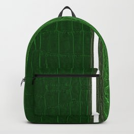 Two-tones Green Leather Backpack
