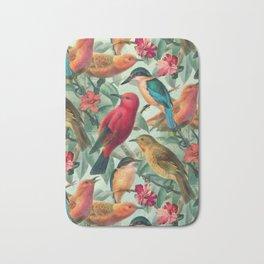 Birds in a summer garden Bath Mat