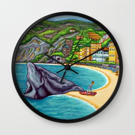 Colours of Monterosso Wall Clock
