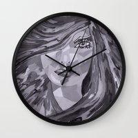 plain Wall Clocks featuring Plain Jane by Sartoris ART