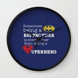 SUPERHERO BROTHER Wall Clock