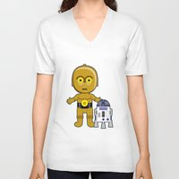 c3po V-neck T-shirts featuring C3PO by Jasmine Victoria