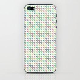edge of autumn geometric pattern iPhone Skin