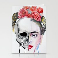 frida kahlo Stationery Cards featuring Frida Kahlo  by Karol Gallegos Carrera