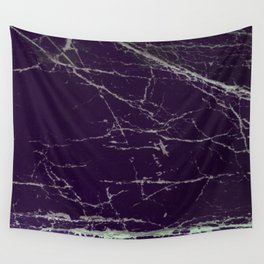 Purple Marble Crease Texture Design Wall Tapestry
