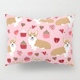 Corgi cupcakes valentines day cute love hearts dog breed corgi crew welsh corgis gifts Pillow Sham
