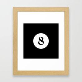 Eight ball pattern Framed Art Print