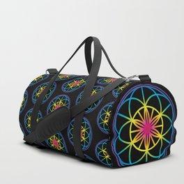 Sacred Symbols Rainbow Chakra Duffle Bag