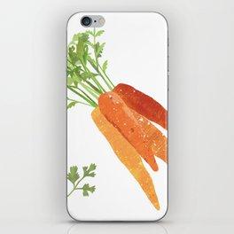 Carrot Illustration iPhone Skin