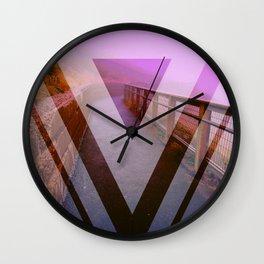 Purple Fog Wall Clock