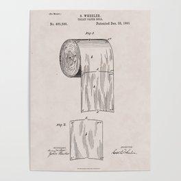 Original Toilet Paper U.S. Patent No. 465,588 by Seth Wheeler (Dec. 22, 1891) Poster