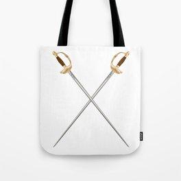 Crossed Infantry Swords Tote Bag