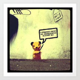 Sooty Denies Allegations Art Print