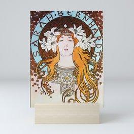 Alphonse Mucha Sarah Bernhardt Vintage Art Nouveau Mini Art Print