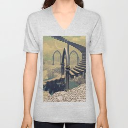 The treppe in the sky Unisex V-Neck