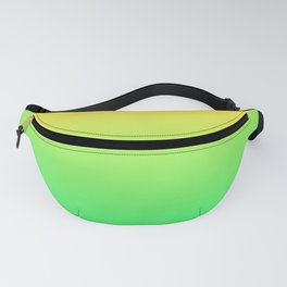 Daffodil Yellow Spring Green Ombre Fanny Pack