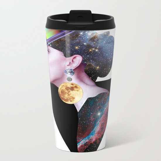 Lady from Outer Space Metal Travel Mug