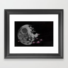 Death Star Framed Art Print
