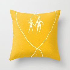 Love Space, Yellow Throw Pillow