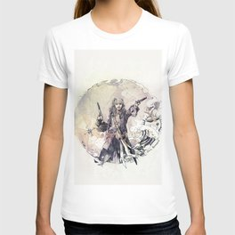 Jack Sparrow with double pistols T-shirt