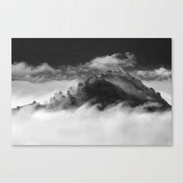 Waves clouds. BN Canvas Print