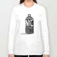 nyc Long Sleeve T-shirts featuring NYC 1972 by Farnell