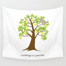 A Partridge in a Pear Tree Wall Tapestry