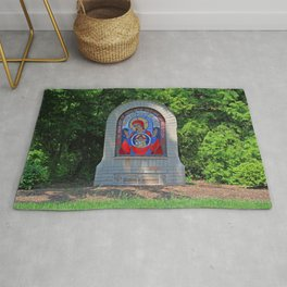 Lourdes University- Commemoration of the Unborn in the Spring (horizontal) Rug