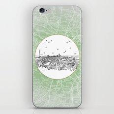 Dublin, Ireland, Europe City Skyline Illustration Drawing iPhone & iPod Skin