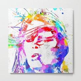 Bardot Watercolor Metal Print