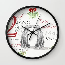 SECOND DAY OF CHRISTMAS WEIMS Wall Clock